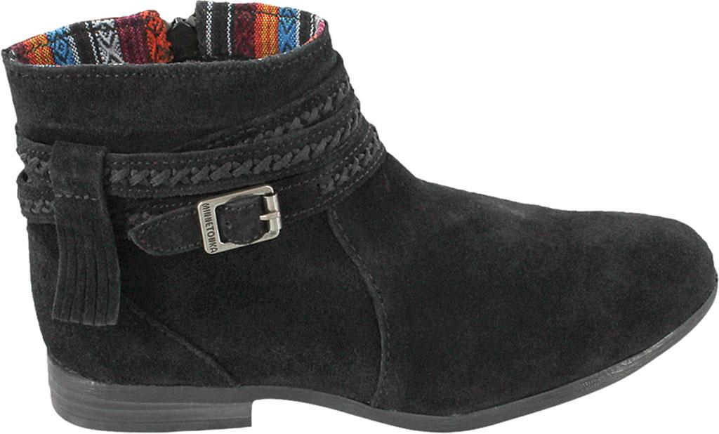 Women's Minnetonka Dixon Boot, Black Suede, large, image 2