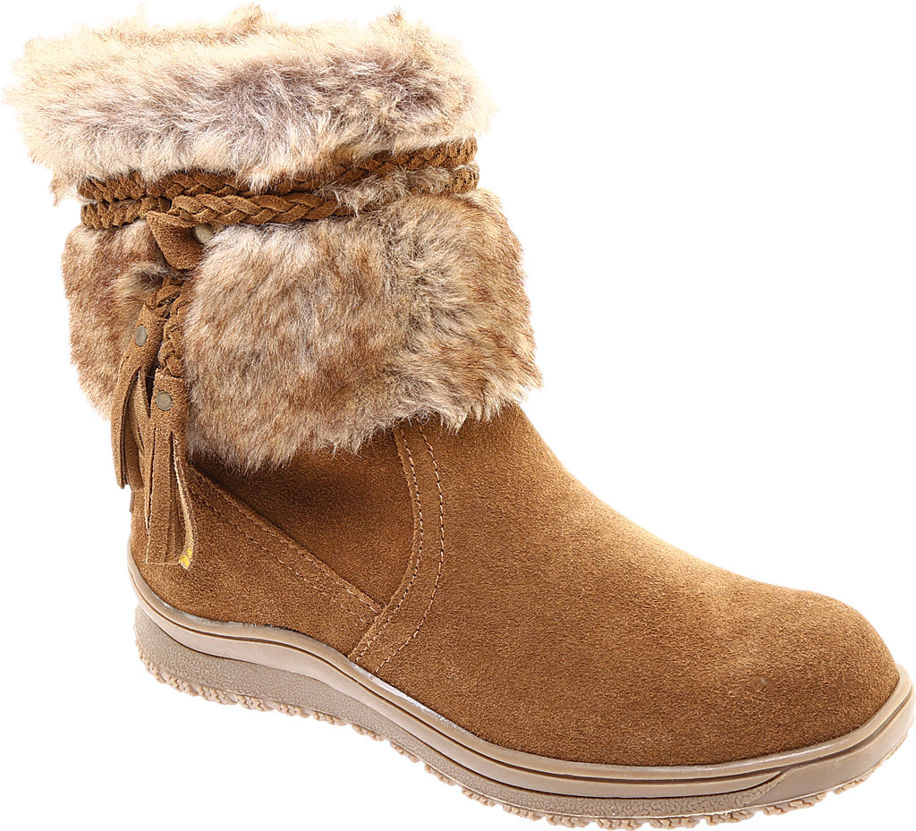 Women's Minnetonka Everett Cold Weather Boot, Dusty Brown Suede, large, image 1