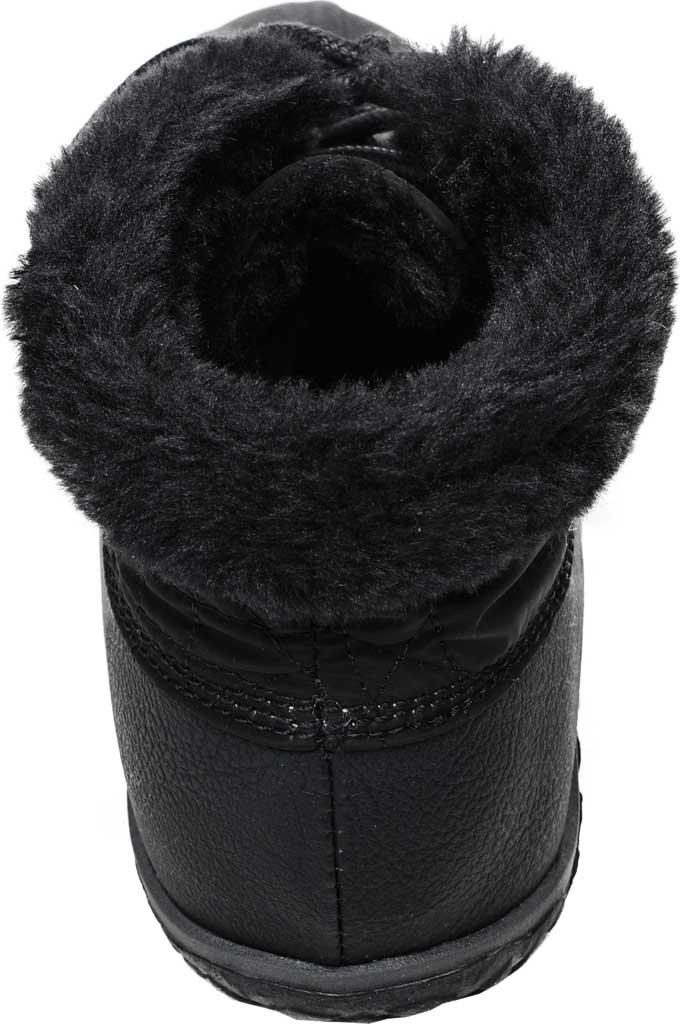 Women's Minnetonka Tega Duck Bootie, Black Polyurethane/Fabric, large, image 3