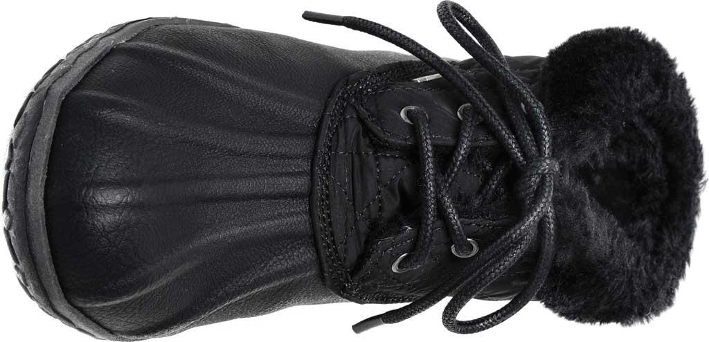 Women's Minnetonka Tega Duck Bootie, Black Polyurethane/Fabric, large, image 4