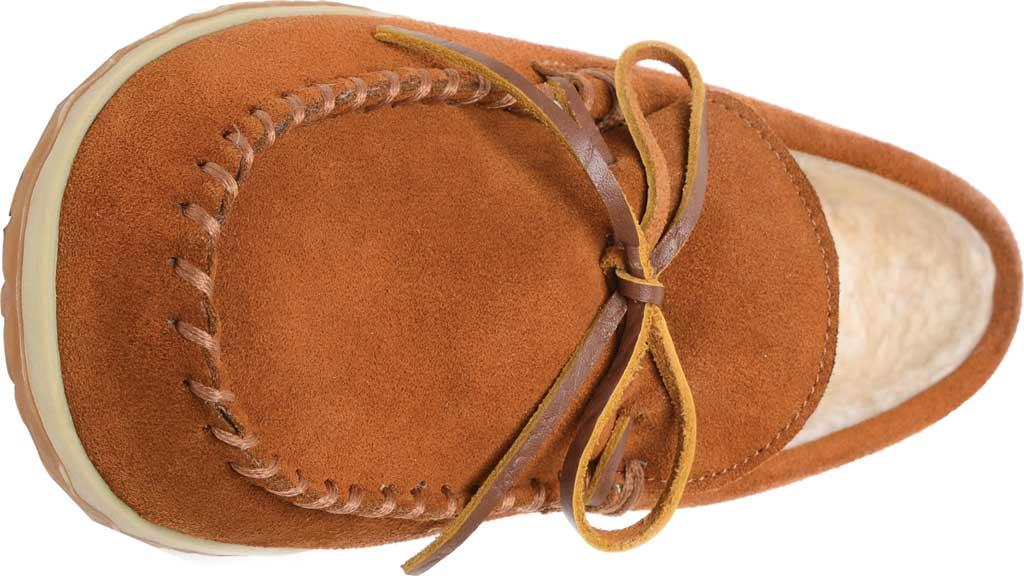 Men's Minnetonka Taft Moccasin Slipper, Brown Suede, large, image 4