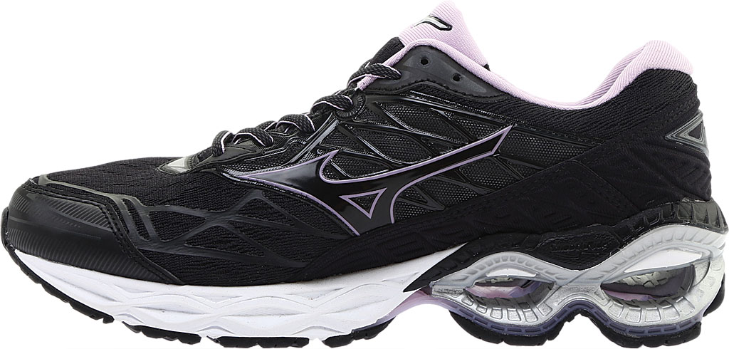Women's Mizuno Wave Creation 20 Running Shoe, Black, large, image 3