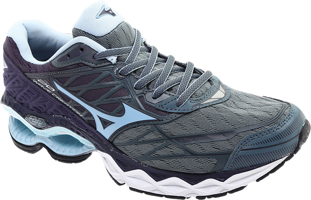 Women's Mizuno Wave Creation 20 Running Shoe, Graphite/Cool Blue, large, image 1