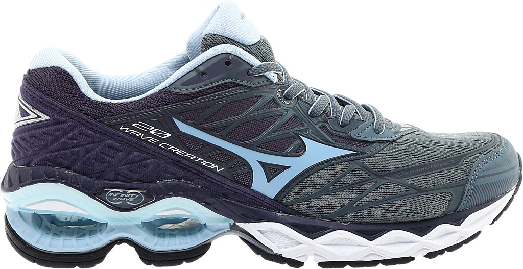 Women's Mizuno Wave Creation 20 Running Shoe, Graphite/Cool Blue, large, image 2