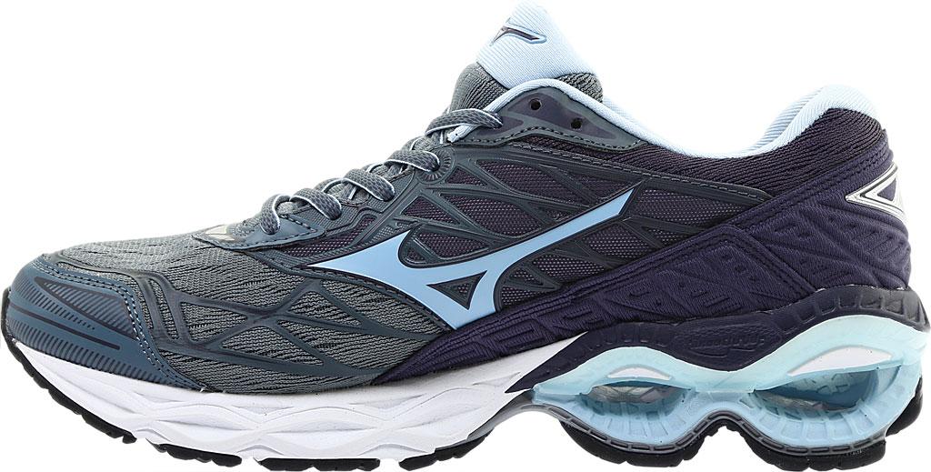 Women's Mizuno Wave Creation 20 Running Shoe, Graphite/Cool Blue, large, image 3