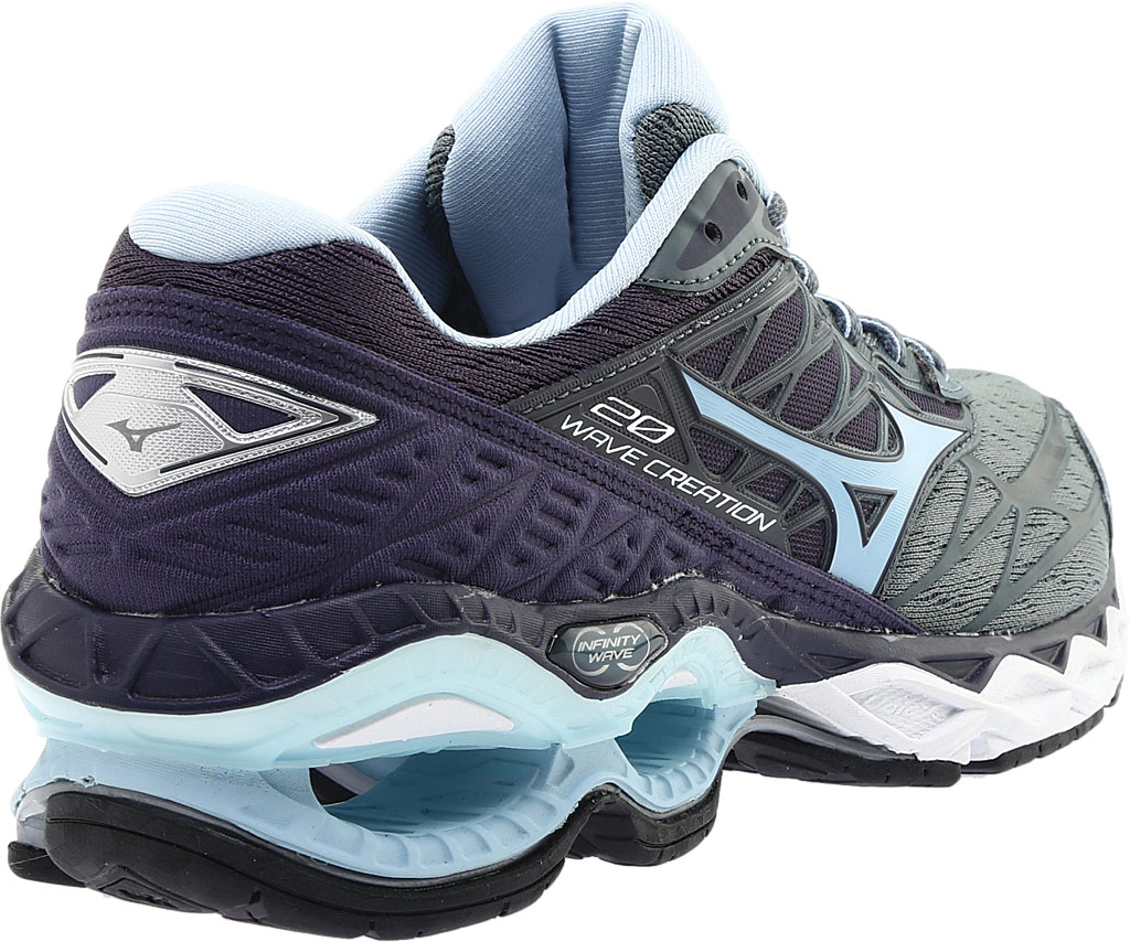 Women's Mizuno Wave Creation 20 Running Shoe, Graphite/Cool Blue, large, image 4