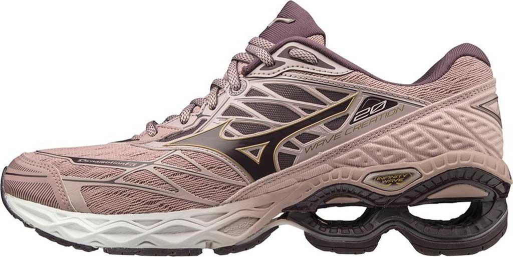 Women's Mizuno Wave Creation 20 Running Shoe, Woodrose/Plum Perfect, large, image 3