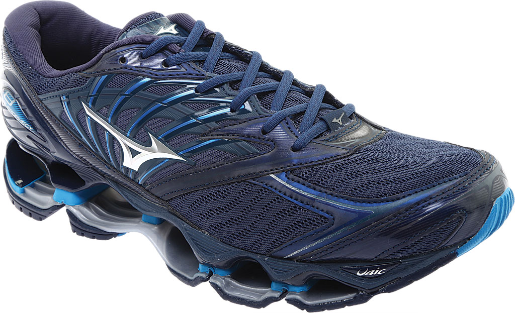 Men's Mizuno Wave Prophecy 8 Running Shoe, Blue Wing Tail/Silver, large, image 1