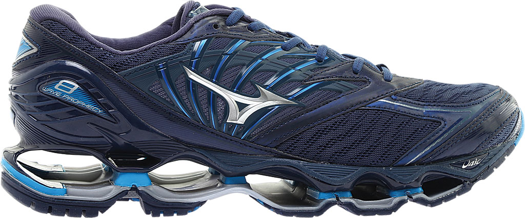 Men's Mizuno Wave Prophecy 8 Running Shoe, Blue Wing Tail/Silver, large, image 2