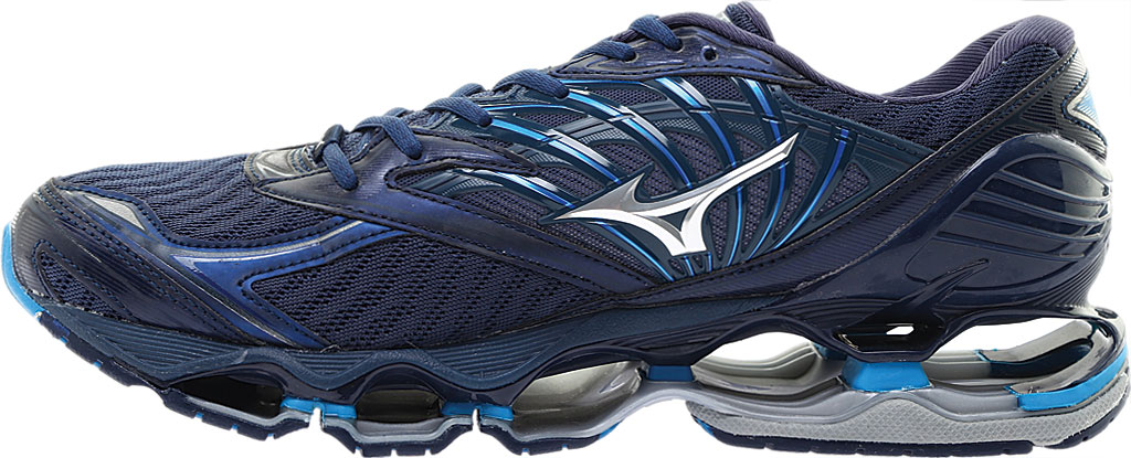 Men's Mizuno Wave Prophecy 8 Running Shoe, Blue Wing Tail/Silver, large, image 3