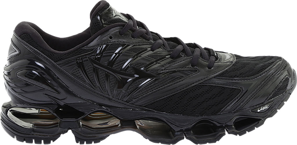 Men's Mizuno Wave Prophecy 8 Running Shoe, Black/Black, large, image 2