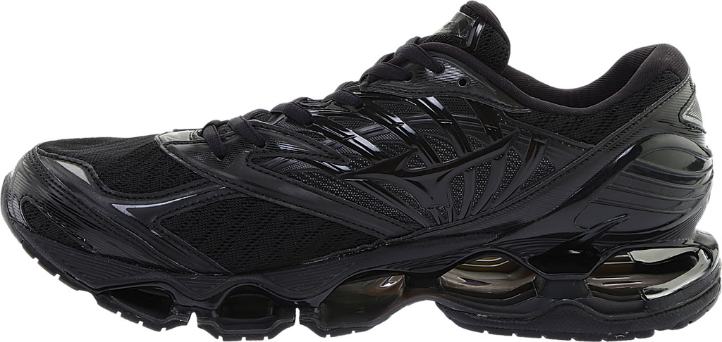 Men's Mizuno Wave Prophecy 8 Running Shoe, Black/Black, large, image 3