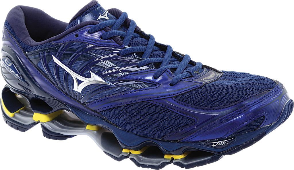 Men's Mizuno Wave Prophecy 8 Running Shoe, Estate Blue/Silver, large, image 1