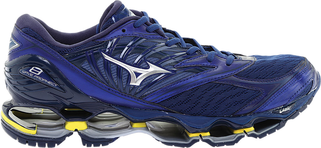 Men's Mizuno Wave Prophecy 8 Running Shoe, Estate Blue/Silver, large, image 2