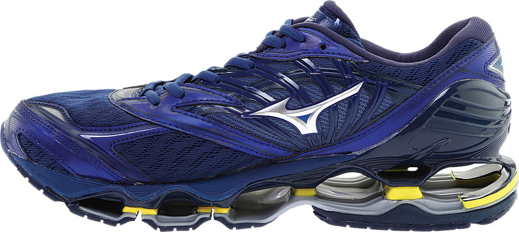 Men's Mizuno Wave Prophecy 8 Running Shoe, Estate Blue/Silver, large, image 3
