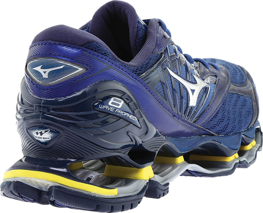 Men's Mizuno Wave Prophecy 8 Running Shoe, Estate Blue/Silver, large, image 4
