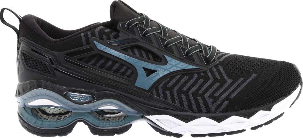 Men's Mizuno WaveKnit C1 Running Shoe, Black/Stormy Weather, large, image 2