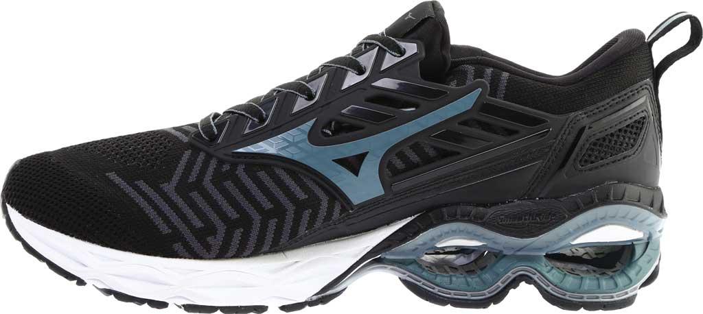 Men's Mizuno WaveKnit C1 Running Shoe, Black/Stormy Weather, large, image 3