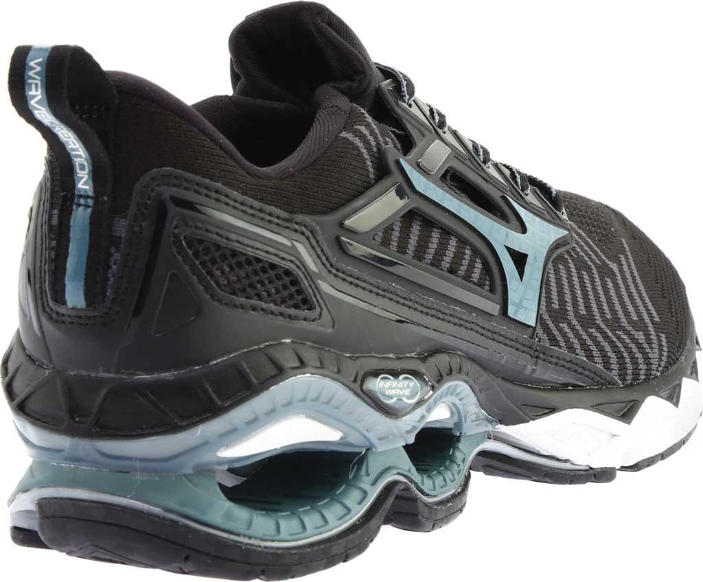 Men's Mizuno WaveKnit C1 Running Shoe, Black/Stormy Weather, large, image 4