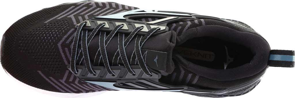 Men's Mizuno WaveKnit C1 Running Shoe, Black/Stormy Weather, large, image 5