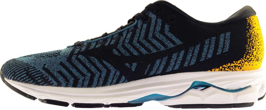Men's Mizuno Rider WaveKnit 3 Running Shoe, Moroccan Blue/Black, large, image 3