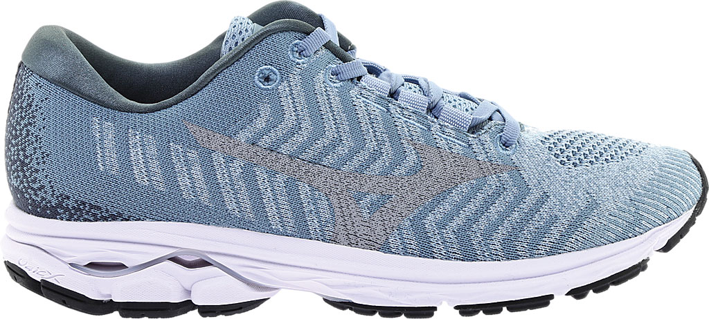 Women's Mizuno Rider WaveKnit 3 Running Shoe, Blue Fog/Vapor Blue, large, image 2