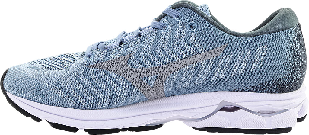 Women's Mizuno Rider WaveKnit 3 Running Shoe, Blue Fog/Vapor Blue, large, image 3