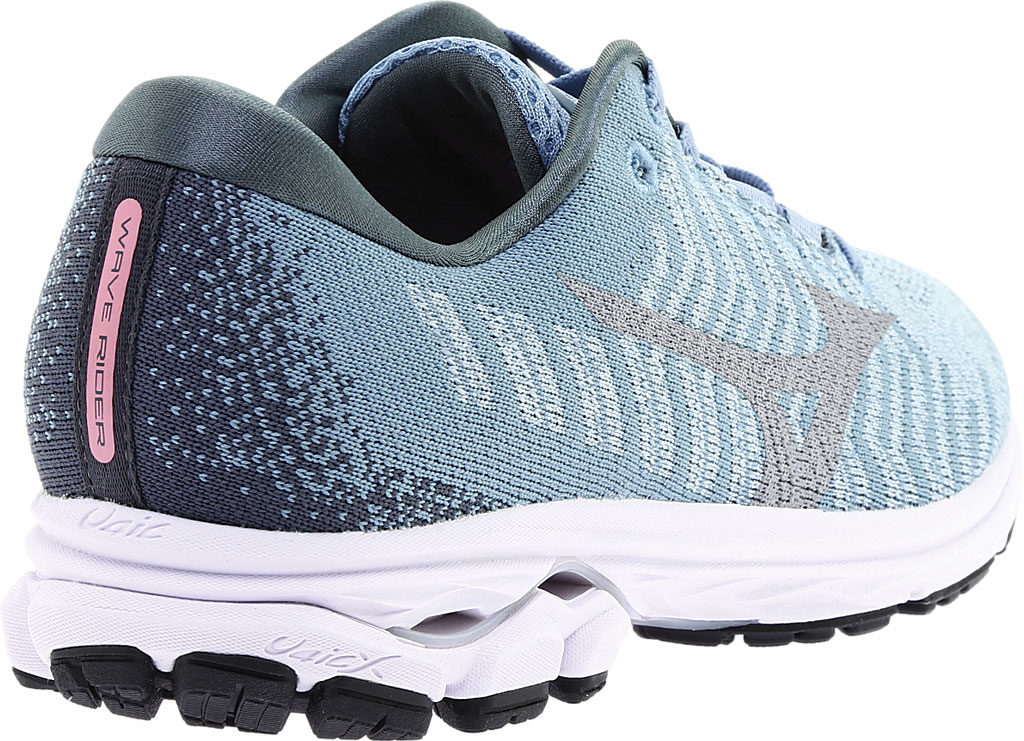 Women's Mizuno Rider WaveKnit 3 Running Shoe, Blue Fog/Vapor Blue, large, image 4