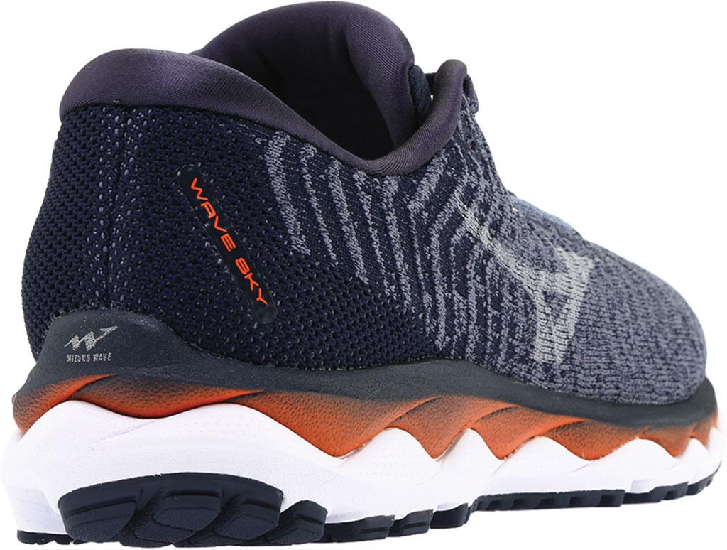 Men's Mizuno Sky WaveKnit 3 Running Shoe, Flintstone/Vapor Blue, large, image 4