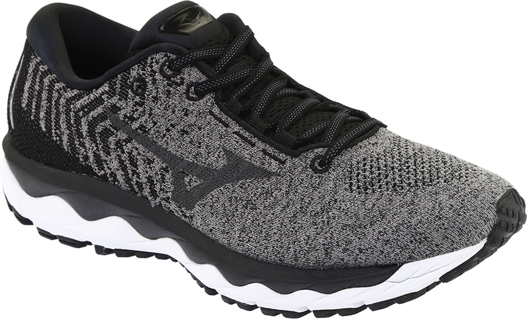 Men's Mizuno Sky WaveKnit 3 Running Shoe, Quiet Shade/Quiet Shade, large, image 1