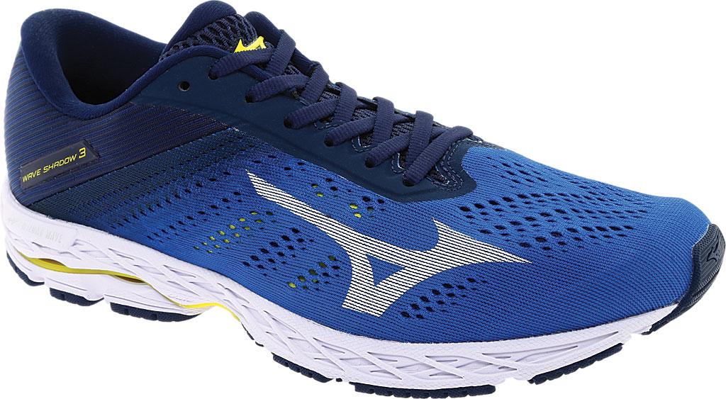 Men's Mizuno Wave Shadow 3 Running Shoe, Campanula/White, large, image 1