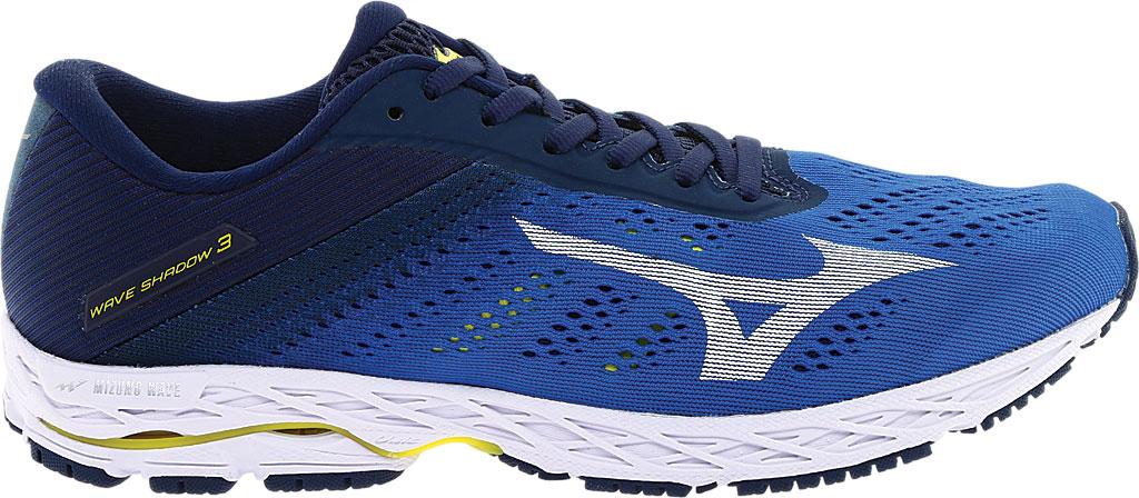 Men's Mizuno Wave Shadow 3 Running Shoe, Campanula/White, large, image 2