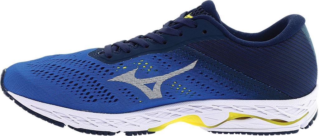 Men's Mizuno Wave Shadow 3 Running Shoe, Campanula/White, large, image 3