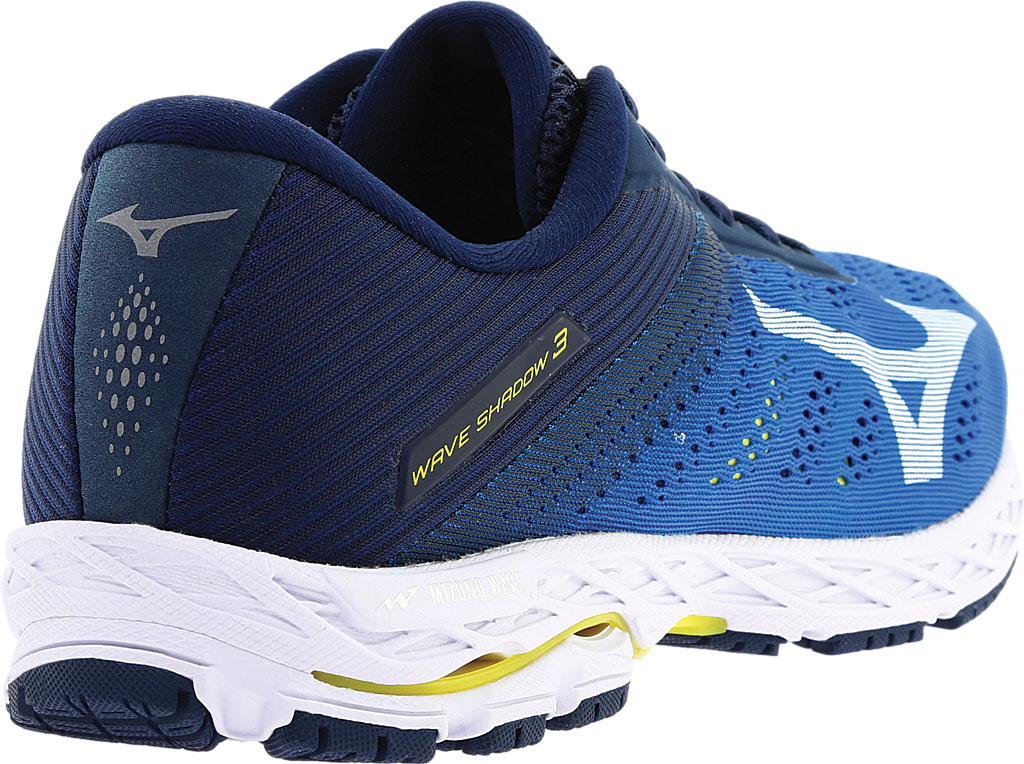 Men's Mizuno Wave Shadow 3 Running Shoe, Campanula/White, large, image 4