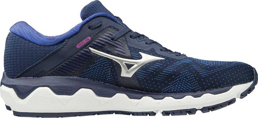 Women's Mizuno Wave Horizon 4 Running Shoe, Medieval Blue/Silver, large, image 1