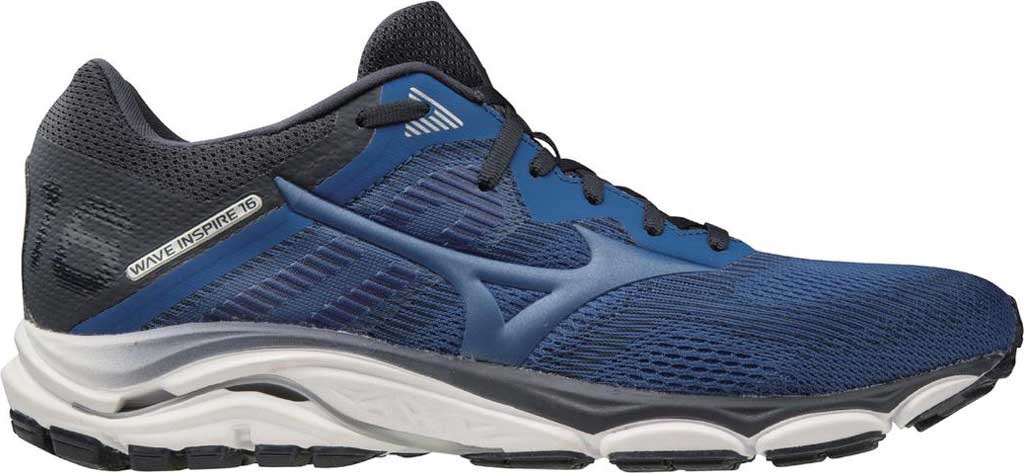 Men's Mizuno Wave Inspire 16 Running Shoe, True Blue, large, image 1