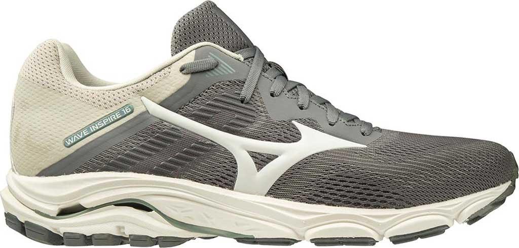 Men's Mizuno Wave Inspire 16 Running Shoe, Steel Grey/Marshmallow, large, image 1