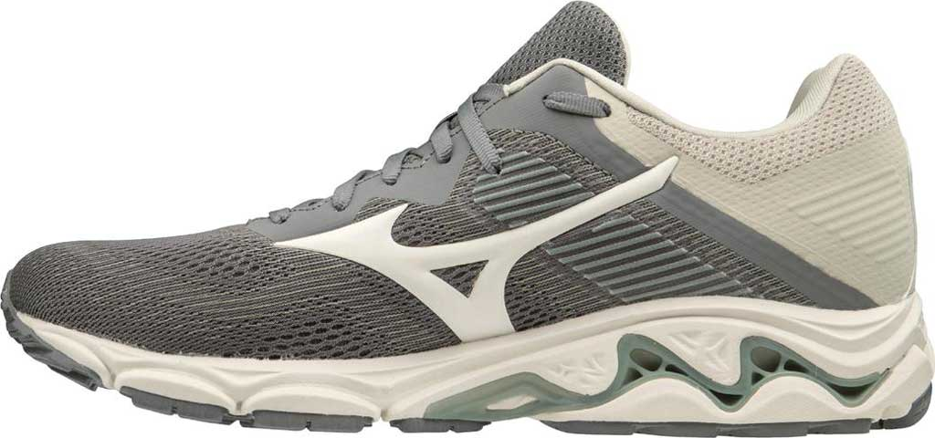 Men's Mizuno Wave Inspire 16 Running Shoe, Steel Grey/Marshmallow, large, image 2