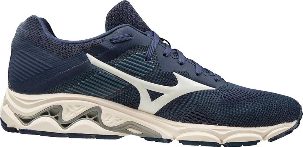 Men's Mizuno Wave Inspire 16 Running Shoe, Mood Indigo/Winter White, large, image 1
