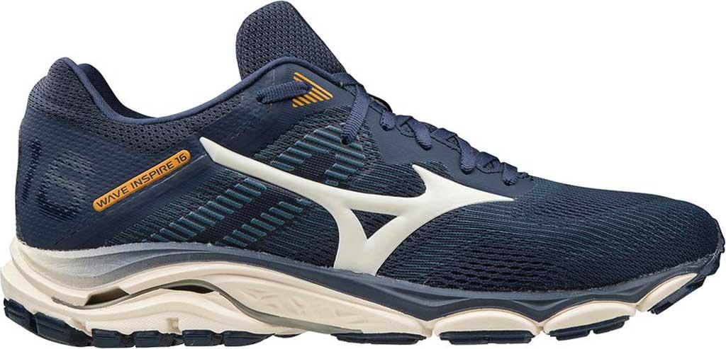 Men's Mizuno Wave Inspire 16 Running Shoe, Mood Indigo/Winter White, large, image 2