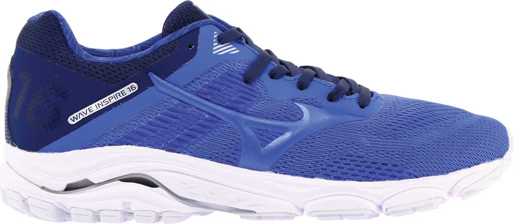 Women's Mizuno Wave Inspire 16 Running Shoe, Dazzling Blue, large, image 2