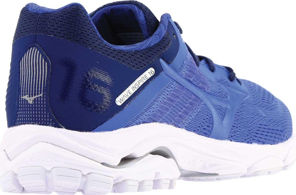 Women's Mizuno Wave Inspire 16 Running Shoe, Dazzling Blue, large, image 4