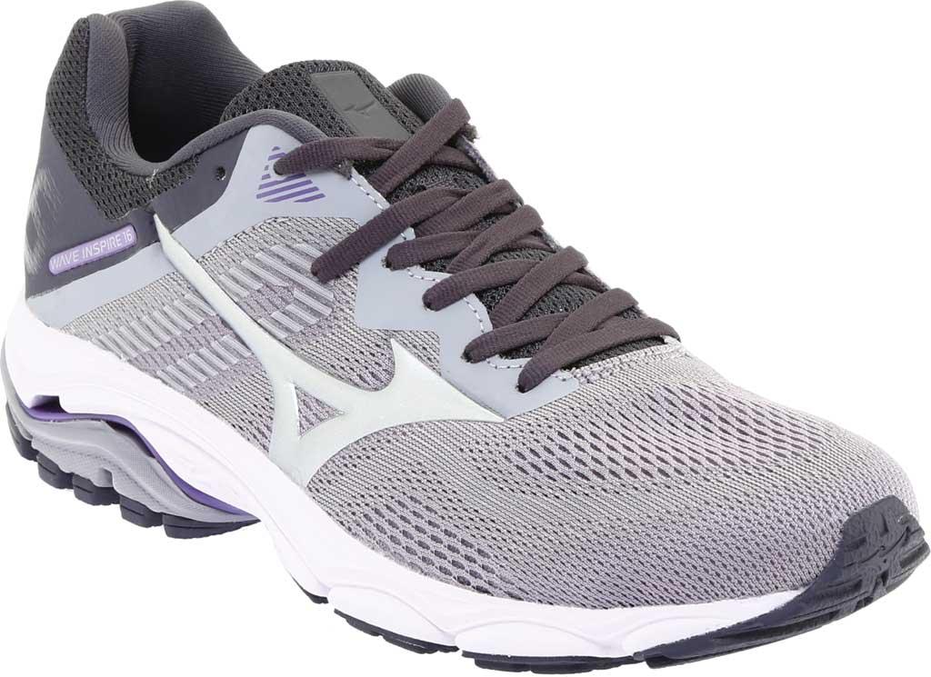 Women's Mizuno Wave Inspire 16 Running Shoe, Vapor Blue/Silver, large, image 1
