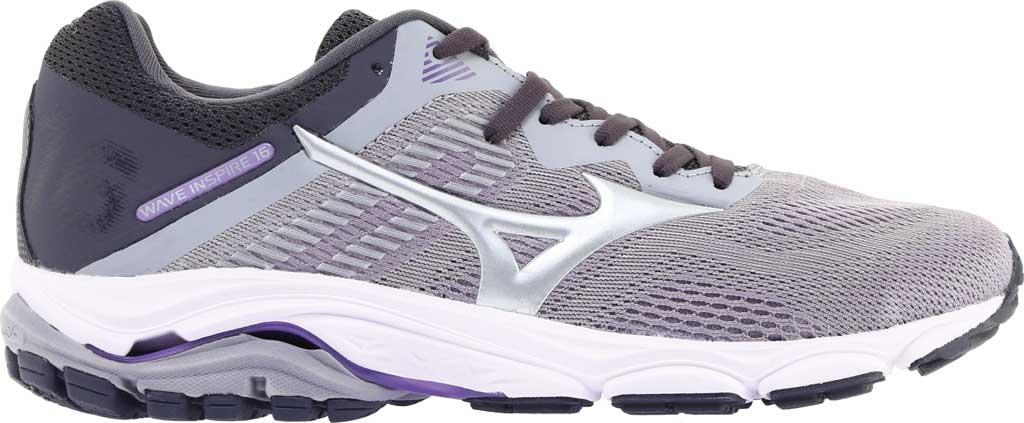 Women's Mizuno Wave Inspire 16 Running Shoe, Vapor Blue/Silver, large, image 2
