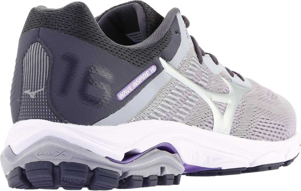 Women's Mizuno Wave Inspire 16 Running Shoe, Vapor Blue/Silver, large, image 4
