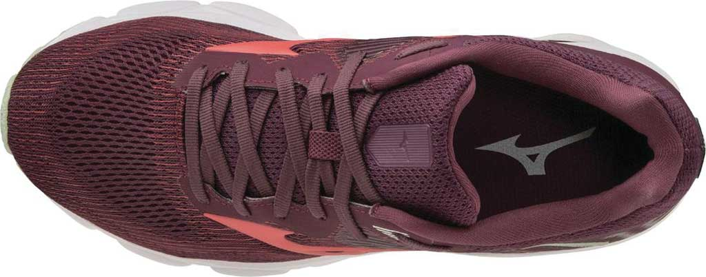 Women's Mizuno Wave Inspire 16 Running Shoe, Mauve Wine/Cayenne, large, image 4