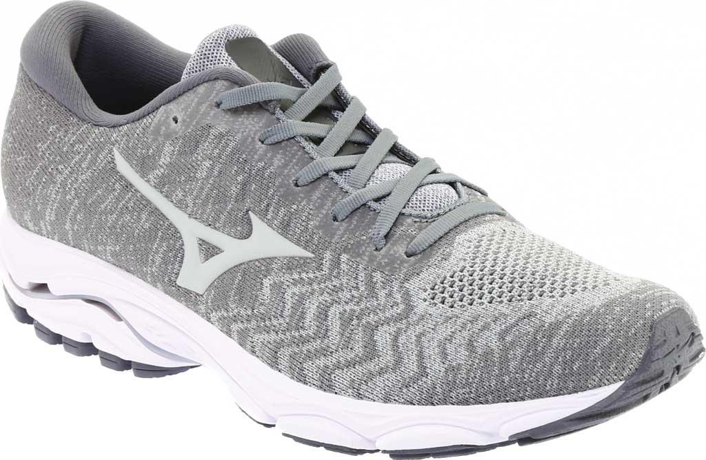 Men's Mizuno Inspire 16 WaveKnit Running Shoe, High Rise/Glacier Gray, large, image 1