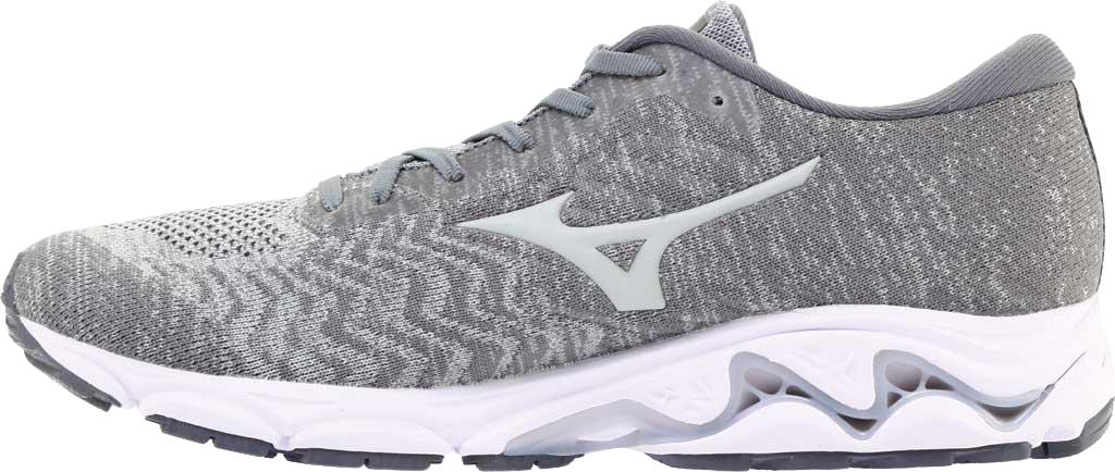 Men's Mizuno Inspire 16 WaveKnit Running Shoe, High Rise/Glacier Gray, large, image 3