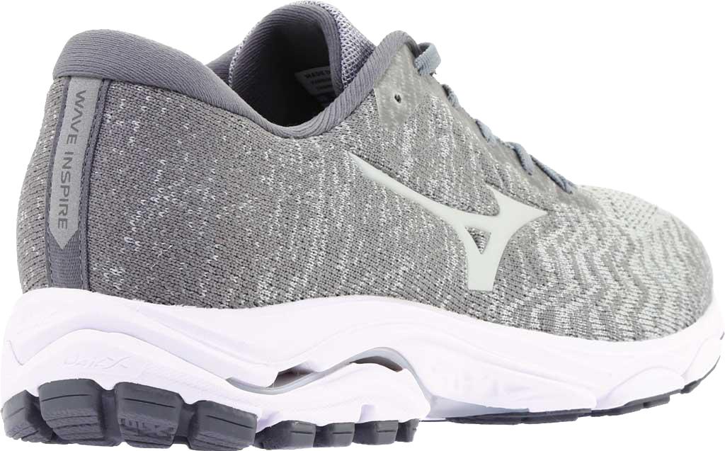 Men's Mizuno Inspire 16 WaveKnit Running Shoe, High Rise/Glacier Gray, large, image 4