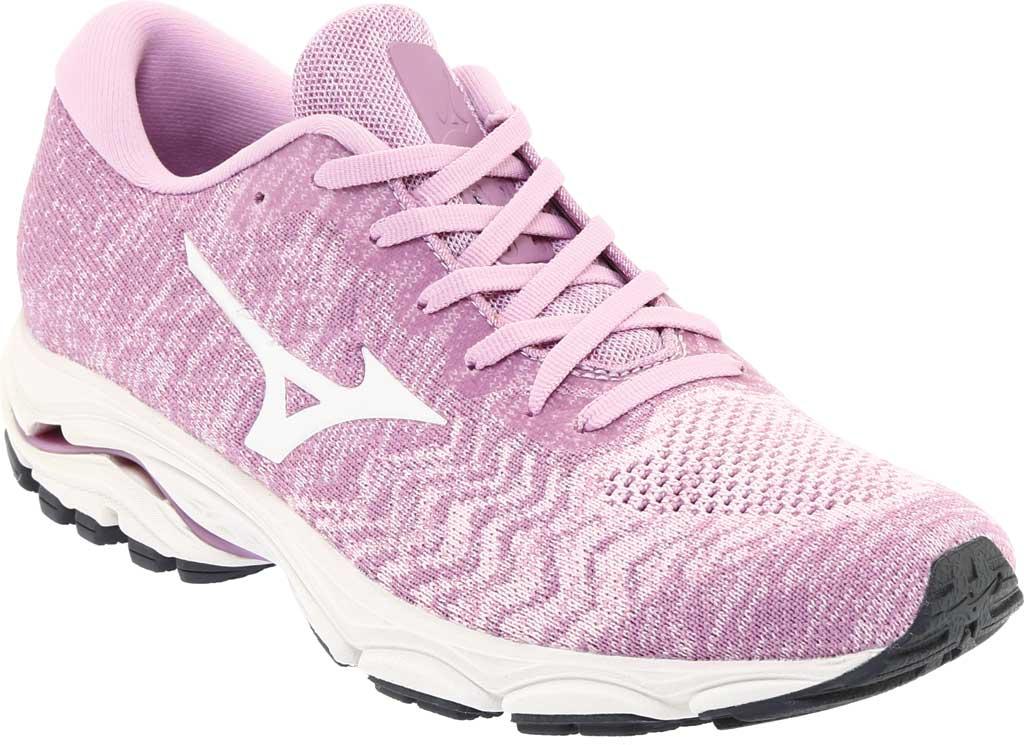 Women's Mizuno Inspire 16 WaveKnit Running Shoe, Ballerina/Snow White, large, image 1